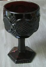 Avon 1876 Cape Cod Ruby Red Glass 10 oz Water Goblet