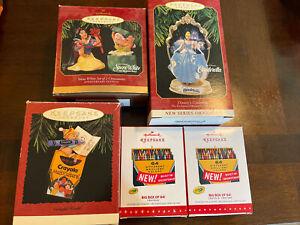 lot of 6 hallmark keepsake ornaments crayola Disney snow white cinderella mice