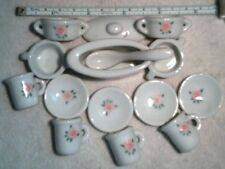 China Dinette Kitchen Doll set with Rose pattern 15 pieces
