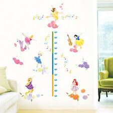 Disney Princess Height Chart Wall Art Sticker Removable Girls Nursery Decor Gift
