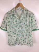 Vintage T-SHIRT, grün gepunktet, keine Größenangaben