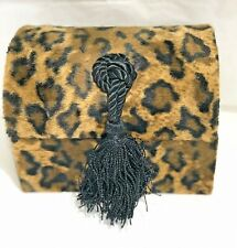 ANIMAL PRINT  GIFT JEWELRY/ STORAGE BOX VELVET BOX w/ DECORATIVE TASSEL