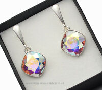 925 SILVER EARRINGS MADE WITH SWAROVSKI CRYSTALS FANCY STONE - CRYSTAL AB
