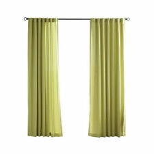 "Outdoor Curtains Kiwi Green 54"" x 96"" Tab Top Panels Porch Patio Privacy Screen"