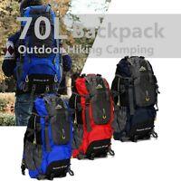 70L Waterproof Rucksack Backpack Outdoor Camping Hiking Bag Travelling Luggage