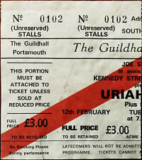 More details for uriah heep guildhall portsmouth 12th february 1980 ticket stub