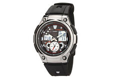 Casio AQ190W-1A Mens Multi Task Sports Gear Black Resin Watch 5 ALARMS New