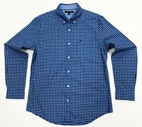 Tommy Hilfiger Men's Custom Fit Cotton Stretch Check Shirt In Blue Size L