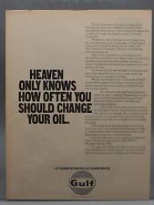 Vintage Magazine Ad Print Design Advertising Gulf Petroleum