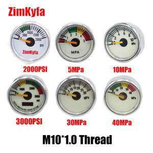 Outdoor Paintball PCP Air Rifle Pressure Gauge Mini Manometer M10*1.0 Threads