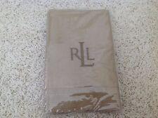 Ralph Lauren Antigua Khaki Standard  Pillow Sham New Cotton Tan