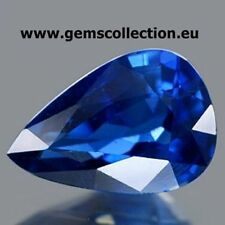 ZAFFIRO NATURALE – NATURAL SAPPHIRE  CT 0.70 VSI  BLUE COLOR PEAR CUT MADAGASCAR