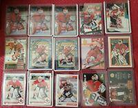 ED BELFOUR (15)LOT 1994-95 TOPPS FINEST CARD x2 PLUS 13 CARDS CHICAGO BLACKHAWKS