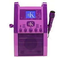 Easy Karaoke Eks515 CD Graphics Player Machine With 1x Mic Colour Monitor Purple