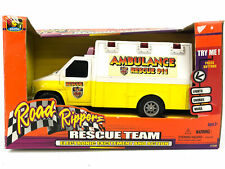2001 Road Rippers Ambulance Rescue Team Toy Van Truck Sounds Lights #7580