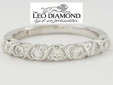 0.35 ct 14K White Gold The Leo Round Brilliant Cut Diamond Wedding Band / Ring