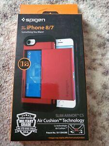iPhone  / 8 / 7 Case Spigen [Slim Armor CS] Card Sloth Wallet Cover