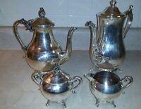 Vintage WM Rogers 801 Silver Plate Coffee/Tea Set