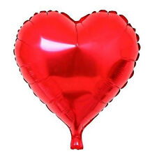 "5Pcs 18"" Aluminum Foil Balloons Metallic Heart Shape Balloon Wedding Party AD"