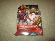IRON MAN II: SEALED IN PACKAGE INFERNO MISSION ARMOR ! SNAP-ON MISSION LAUNCHER!