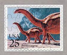 1989 New Brontosaurus 25 Cent Puzzle Stamp