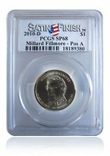 PCGS SP68 MS68 2010-D Millard Fillmore Presidential Dollar Pos A Satin Finish $1