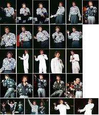40 Barry Manilow colour concert photographs - Sheffield 1988