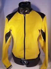 Assos swiss Lady Cyclists Jacket Size M Yellow Black womans cycling lightweight