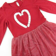 Girls Christmas Dress Size Medium 7-8 Red Candy Canes Long Sleeve Holiday