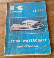 Genuine OEM Kawasaki JS440 Jet Ski Watercraft Service Manual  99963-0001-04