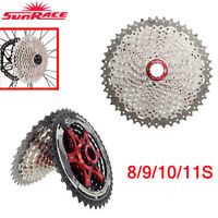 Sunrace MTB/Road Bike Cassette 8 9 10 11Speed Bicycle Freewheel fit Shimano SRAM