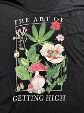 TRULY MADLY DEEPLY Anthropologie S M L Slouchy Tee ART GETTING HIGH Pot Drugs