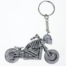 Skeleton Skull 3D Rubber Motorcycle Motorbike keyring keychain - UK SELLER NEW