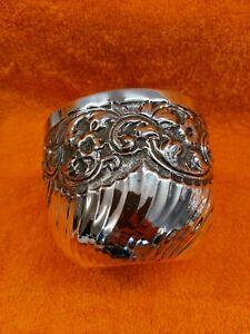 Antique Sterling Silver Hallmarked Art Nouveau Bowl 1889 , London 19th Century