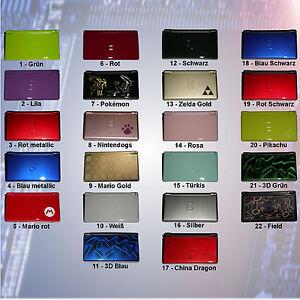 Nintendo Ds lite generalüberholt, freie Farbwahl aus 26 verschiedenen Farben