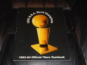 1983 1984 PHILADELPHIA 76ERS NBA BASKETBALL YEARBOOK EX-MINT