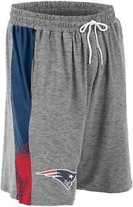 Zubaz NFL Football Mens New England Patriots Gray Space Dye Shorts