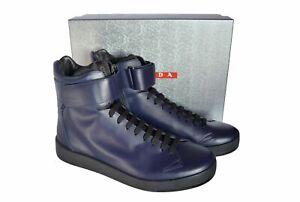 New Authentic PRADA Mens High-Top Sneakers Sz US12 EU45 UK11 4T3016