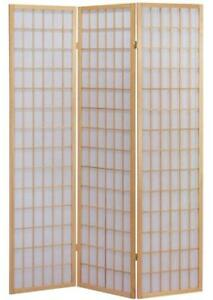 3 And 4 Panel Japanese-Oriental Style Shoji Screen Room Divider Privacy Wall