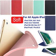 "PU Leather Smart Case For iPad Mini 12345 6th 9.7 7th 10.2"" Air 2 Silicone Cover"