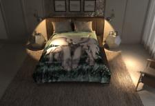 4 Estaciones King Queen Blanket Lightweight Faux Fur Elephant Blanket by Solaron