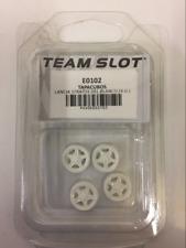 TEAM SLOT E0102 LANCIA STRATOS ROUE AVANT inserts x 4 BLANC PEINT NOUVEAU