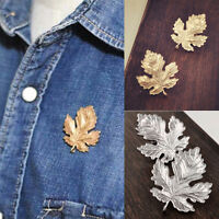 New Clothes Accessories Leaf Brooch Pins Chic Vintage Brooches For Women ManEP