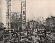 Place d'Armes, Montreal, Canada, Quebec 1895 old antique vintage print picture