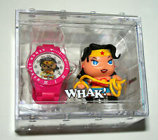 DC Comics Wonder Woman Whak! Watch Collection New 2013 With Figure