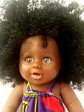 UK stock  Dimples 30cm Afro Black Reborn Girl Doll
