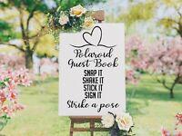 Personalised Wedding Board  Polaroid Guestbook Chart 3Venue Sign Bride Groom