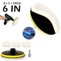 "5PCS 6"" Buffing Pad Polishing Mop Wheel Buffer Attachment Kit For Car Polisher"
