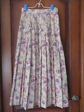 Womens Vintage Classic Laura Ashley Floral Print Tea Length Skirt Fit Like SZ 2