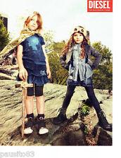 PUBLICITE ADVERTISING 086  2012  Diesel Kid  pret à porter mode enfant
